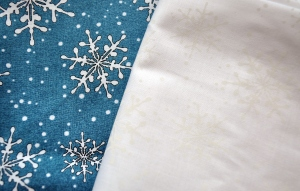 Blue & White Snowflake Fabrics by Maywood Studio