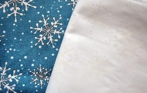 Blue & White Snowflake Fabrics by Maywood Studio