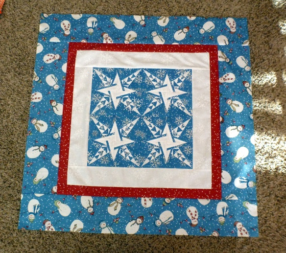 Winter Snowman Quilt - Inside