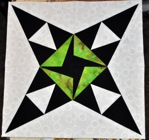 August 2012 Block with Lime Green Zinger