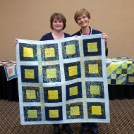 Me with Peg and the Prize Quilt