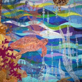 Another quilt closeup, Made by Claudia Pfeil