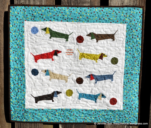 Doxie Dog Quilt  Front