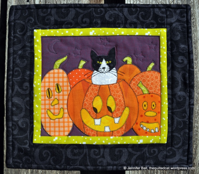 Pumpkin Patch Cat Completed Quilt Top