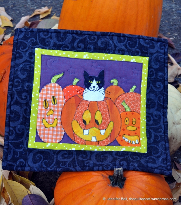 Pumpkin Patch Cat Quilt
