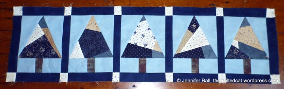 Modern Tree QAL Table Runner