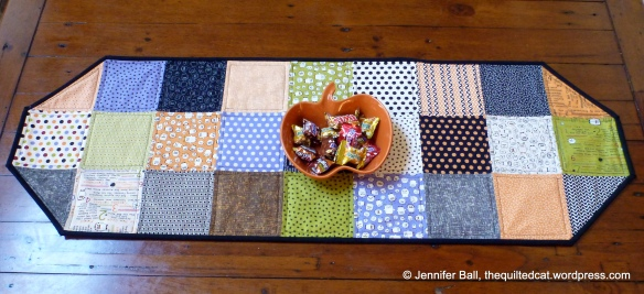 Easy Charm Pack Halloween Table Runner