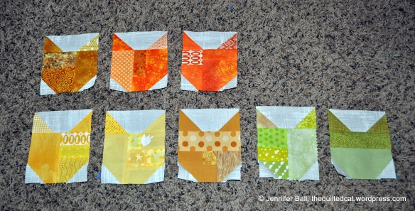 Cat Quilt-Along Blocks from Week 2