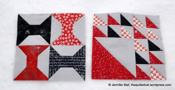 Aurifil BOM: January and February blocks