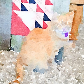 Tiger and Feb Block in Waterlogue