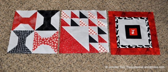 Aurifil BOM Blocks: Jan, Feb, March