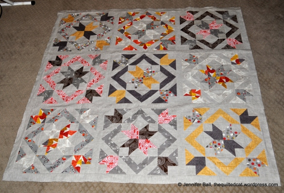 SLSB QAL Quilt Top, Indoors