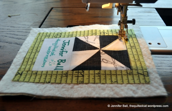 Name Tag Quilt Sandwich