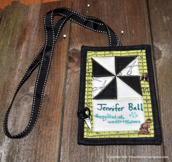 Quilted Name Tag Lanyard