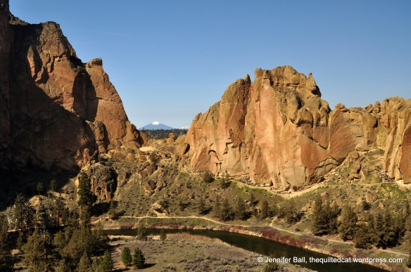 Smith Rocks with Black Butte in the Background