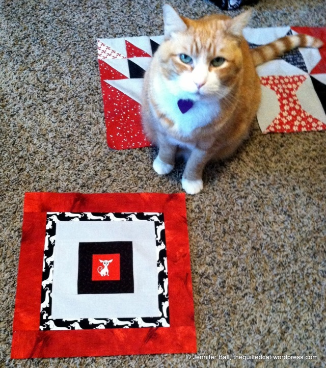 Hmmm, I think the quilt inspector does not approve!