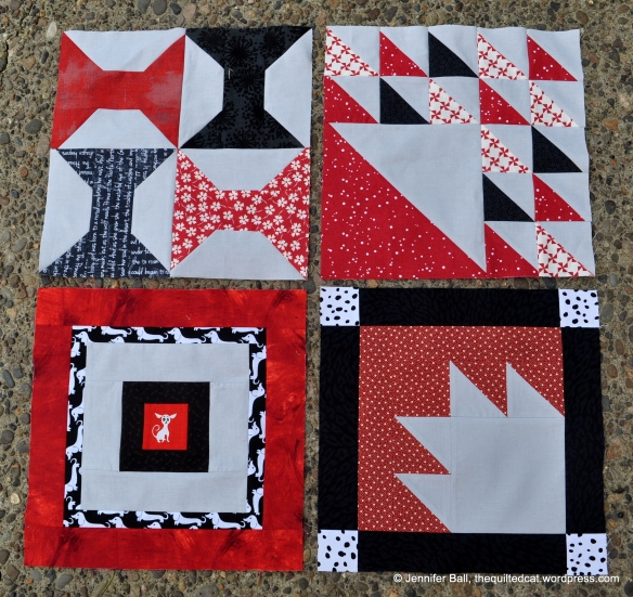 Aurifil BOM - First 4 Blocks