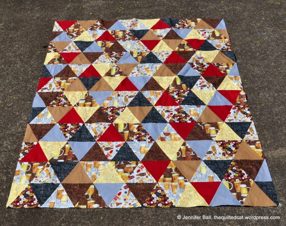 Triangle QAL Quilt Top!