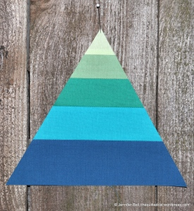 Wedding Triangle with Graduated Color Bands