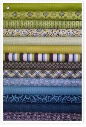 Ansonia Fat Quarters in Green