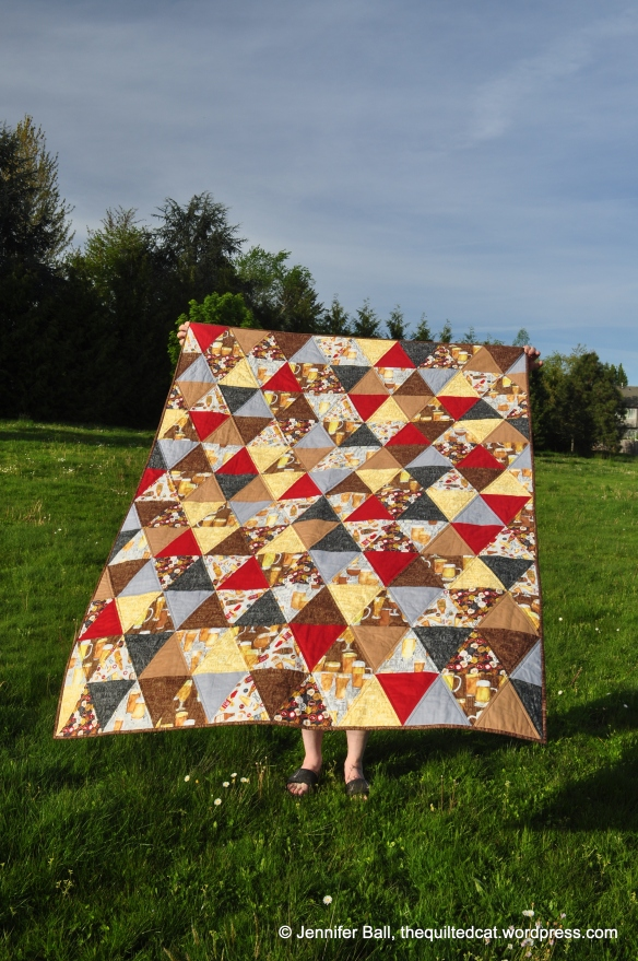 Triangle Quilt, Blowing in the Wind