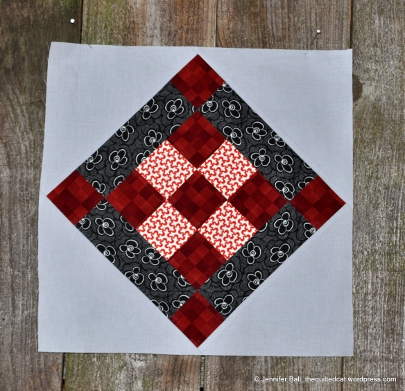 Aurifil BOM, May Block designed by Amy Smart