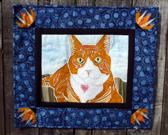 Tiger, A Quilted Portrait