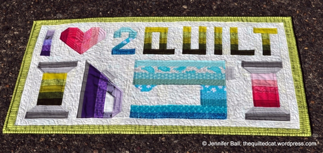 I Love 2 Quilt Completed Mini