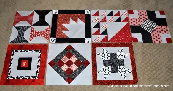 Aurifil BOM, Blocks 1-7