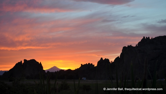 Mt. Jefferson from Smith Rock State Park at sunset