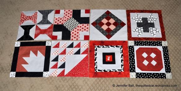 Aurifil BOM, Blocks 1-8