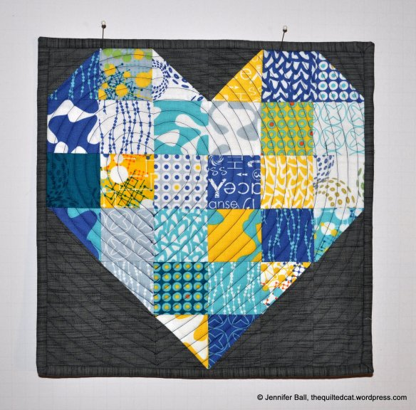 Color of My Heart Mini Quilt