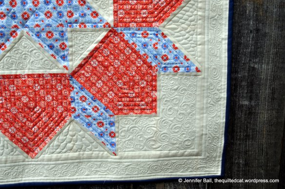 Swoon Block Free-Motion Quilting Detail