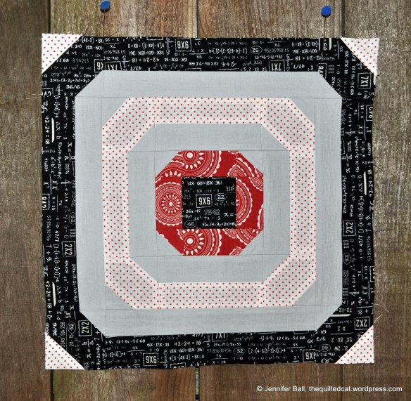 Aurifil BOM, October Block, Circle of Love