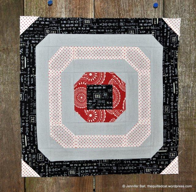 Aurifil BOM, October Block, Circle of Love