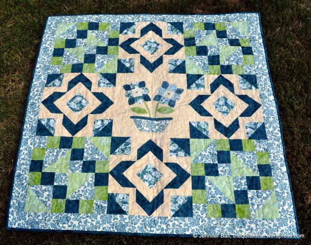 Bali Posies Quilt Front
