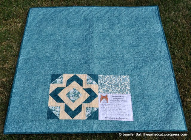 Bali Posies Quilt Back