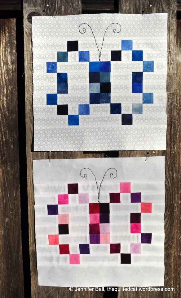 Blue and Pink Butterfly Blocks