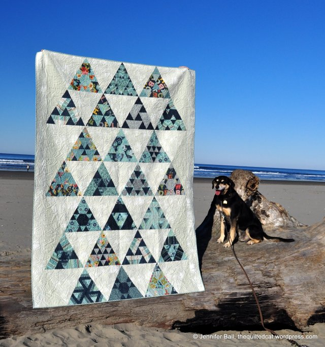Toes in the Sand Completed Quilt, Seaside, Oregon