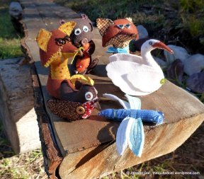 Critters on a Bench