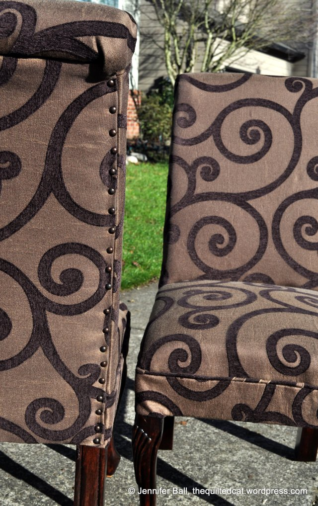 Close-Up of Rubbed Bronze Tack Accents