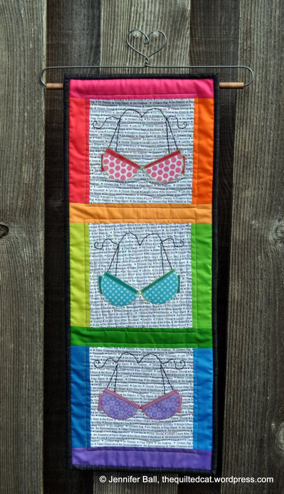 We Support You Rainbow Mini Quilt (Outdoors)