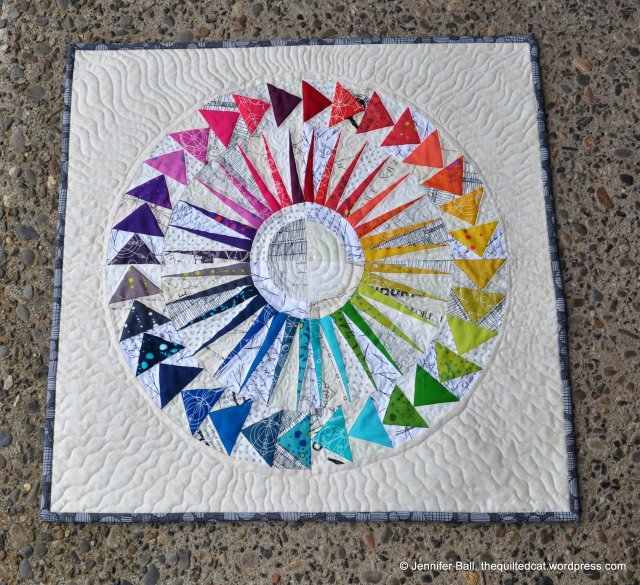 Completed NY Beauty Circle of Geese Mini Quilt