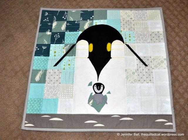 Charley Harper Penguin Mini Quilt