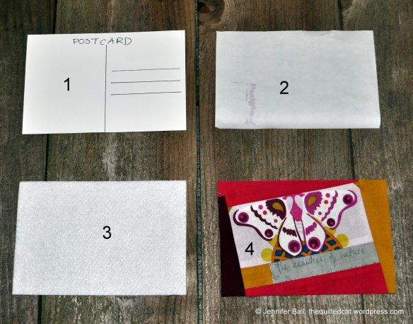 Fabric Postcard Materials