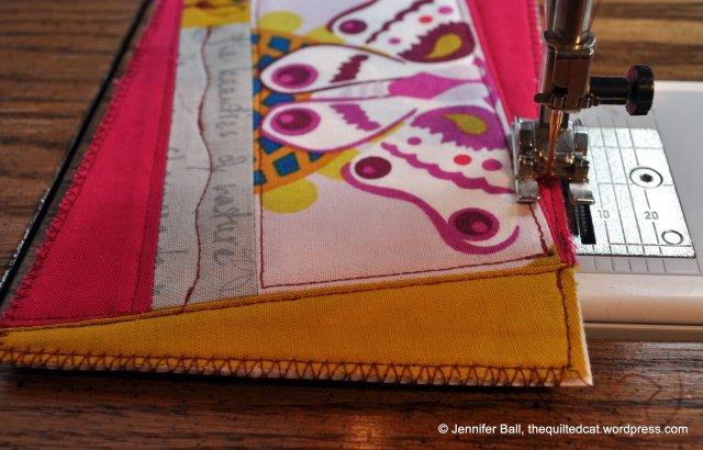 Zigzag stitch on all edges!