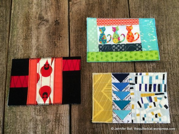 Modern Fabric Postcards