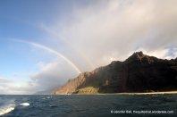Double rainbow at Napali coast