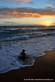 Ian and sunset at Popiu Beach