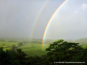 Double rainbow near Hanalei